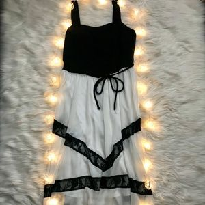 Speechless black and white high low dress